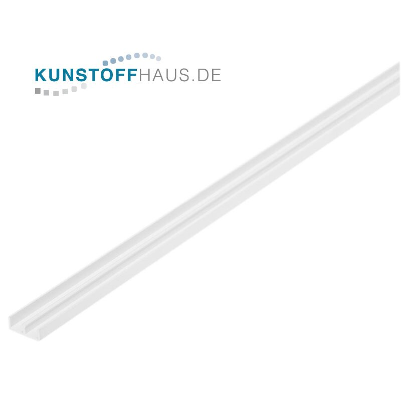 PVC U-U-Profile - 10 x 15 x 10 x 1 mm - White
