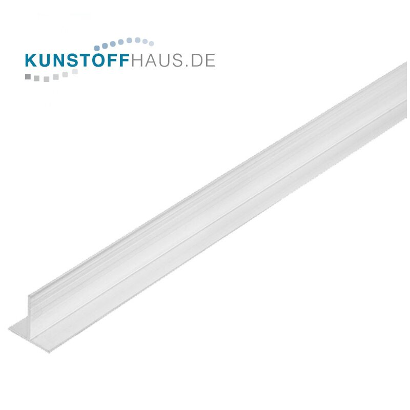 PVC T-Profile - 19,5 x 1,5 mm - White